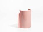 Keramická váza Blocks malá Vase Small D Shape Pink