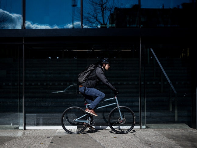 Skládací kolo Folder Ve městě, foto Štěpán Klíma