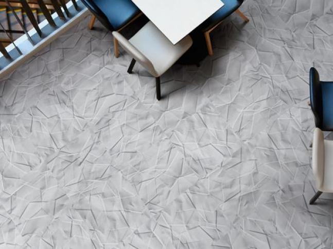 Vinylová podlaha - design zmačkaný papír