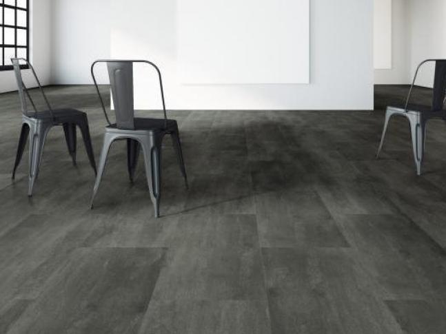 Vinylová podlaha - design železný plát