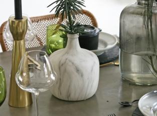 LOOOOX váza keramická nízká mramor