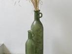 LOOOOX váza zelené matné sklo s uchy L VZ-0170-0171-TI
