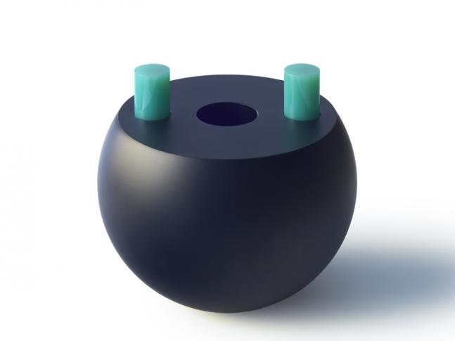 Váza koule 2000
