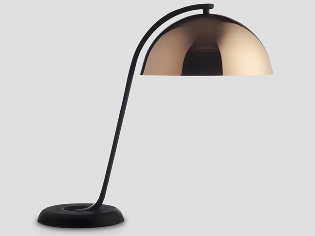 Cloche Lamp WH Cloche polished copper