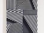 Drdova Gallery Monika Zakova, Untiitled (Linie 011), oil and oil pastels on paper on canvas, 55 x 44 cm